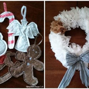 Upcycled Plastic Bag Christmas Decorations 1