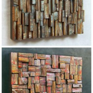 Wooden blocks panels 1