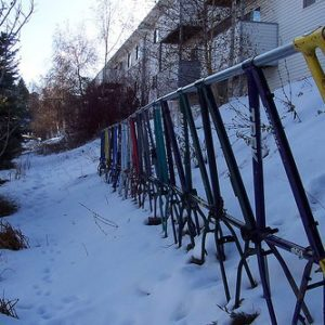 recycled-bike-frame-fence